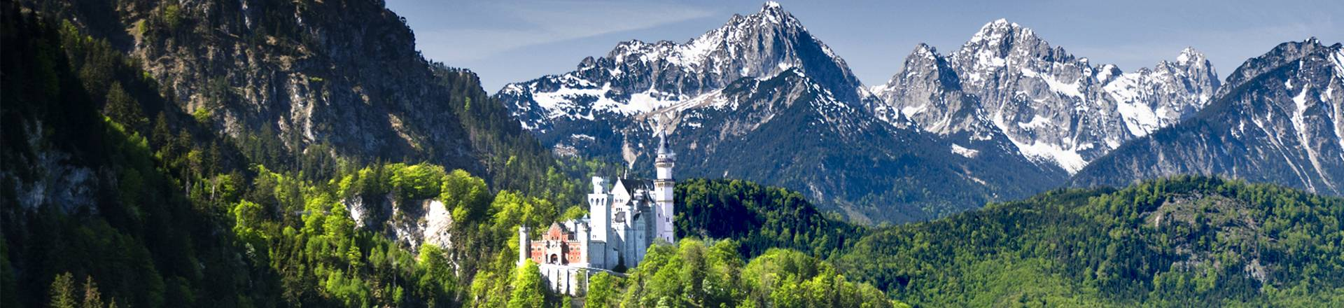 The Neuschwanstein Castle, a well-known symbol for the bavarian Allgaeu region