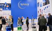 UWT presenting level measurement sensors at the Powtech in Nürnberg, Germany 2019 for bulk solids and liquids