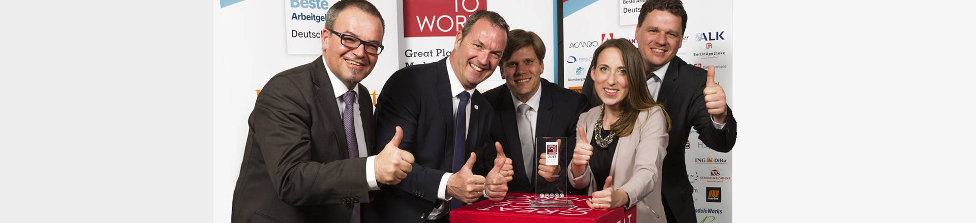 UWT gewinnt den Great Place to Work Award 2017