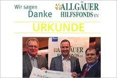 UWT Donation Campaign for the Allgäuer Hilfsfond