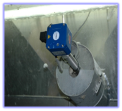 Point level measurement in filter dust
